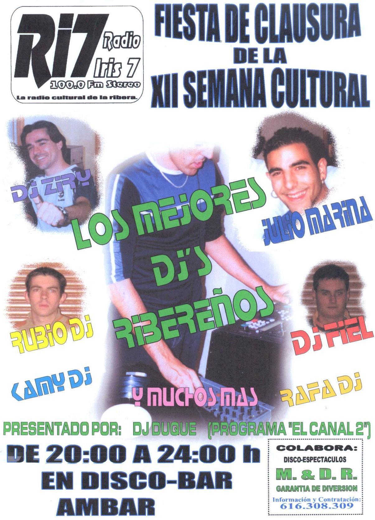 Cartel de 1ª Fiesta M&DR (18-12-2005)